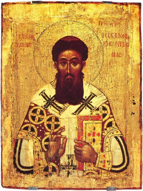 икона Свт. Григорий Палама. Последняя треть XIV в.