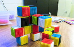 Textural Colorful Blocks