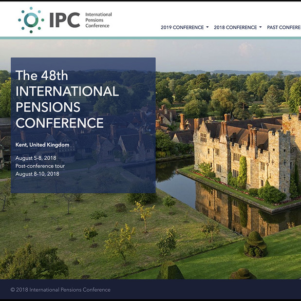 International Pensions Conference website redesign