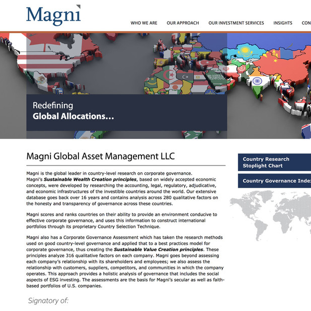 MagniGlobal website redesign