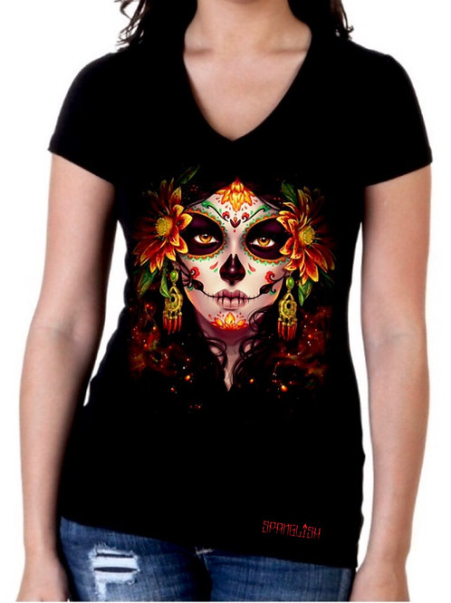 """La Catrina of Fire"" Woman T-shirt"