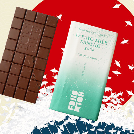FRIIS HOLM O`PAYO MILK SANSHO 50% - MILK CHOCOLATE WITH GREEN SANSHO PEPPER