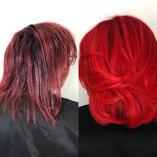 Rihanna Red Transformation