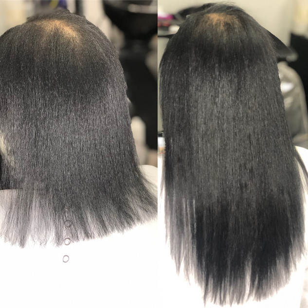 I-Tip Extensions on Natural Hair