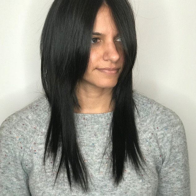 Clip-In Extensions on Bob Length