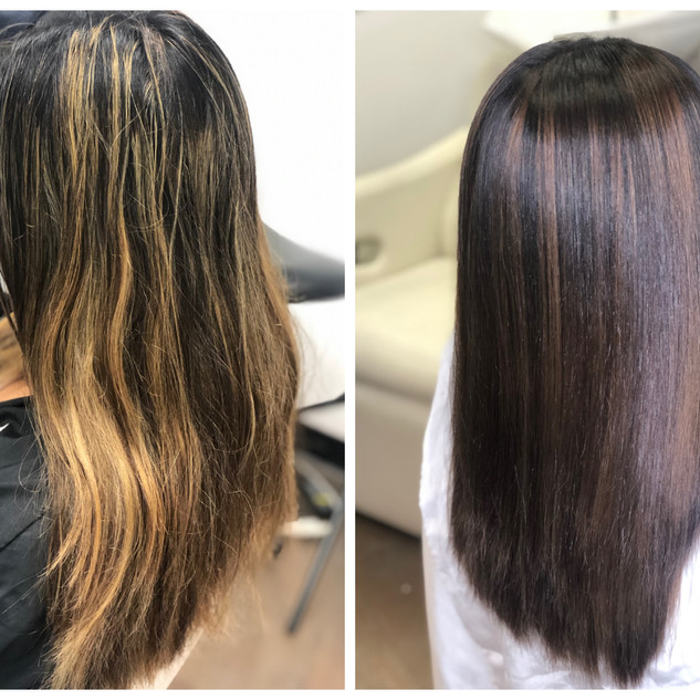 Color Fill to hide brassy highlights