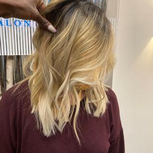 Blonde Balayage on Dark Hair