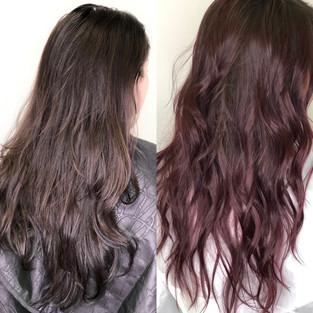 Red Balayage on virgin hair *No Lightener Used*