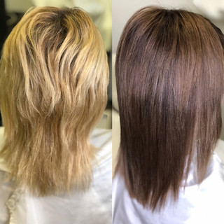 Blonde to Brunette