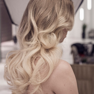 Hairstyle using K-Tip Extensions