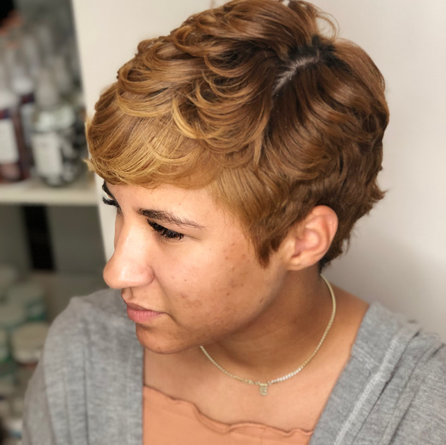 Pincurls for Short Natural Pixie Cut