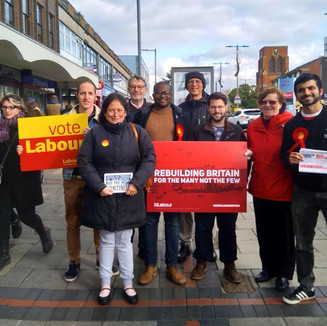 With Hertsmere Labour Party campaign day of action