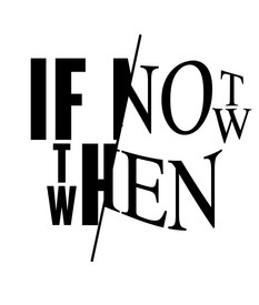 If Not Now Then When -Private enquire