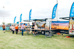 Can Van serving at Winton's Way Out West Fest