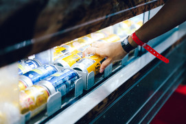 Chilled Beverages being sold.