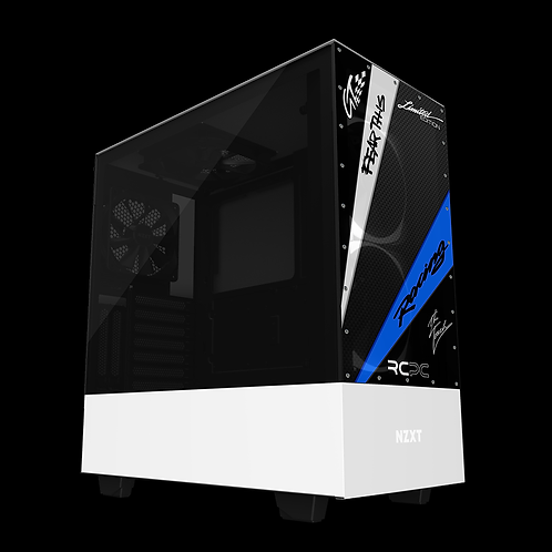 NZXT H510 Elite Black-Blue-White-Carbon Fibre-Black GT Sport Wrap