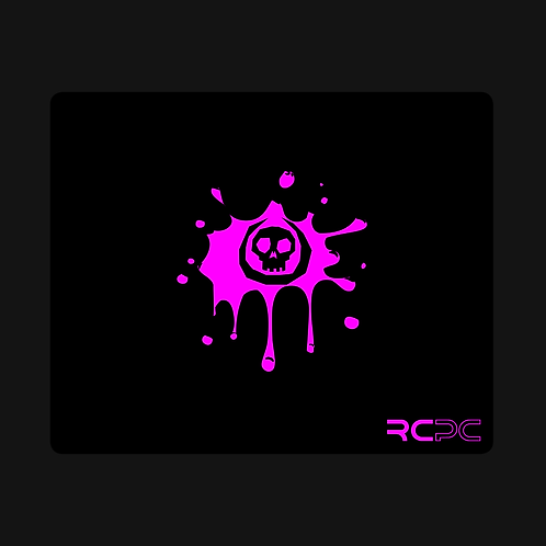 Black-Pink Skull Splat Mouse Pad