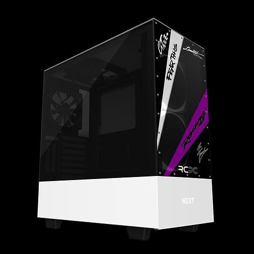NZXT H510 Elite Black-Purple-White-Carbon Fibre GT Sport Wrap