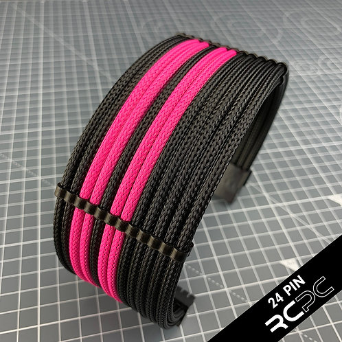 Black and Perfect Pink Cable Extension Set