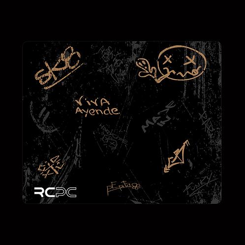 Brown-Black-Grey Graffiti Grunge Mouse Pad