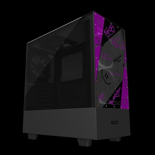 NZXT H510 Elite Purple-Black-Grey Graffiti Grunge Wrap