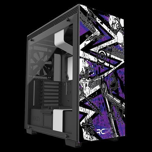 Purple-Grey-White Abstract Grunge Wrap