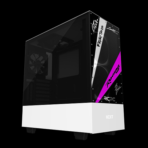 NZXT H510 Elite Black-Pink-White-Carbon Fibre GT Sport Wrap
