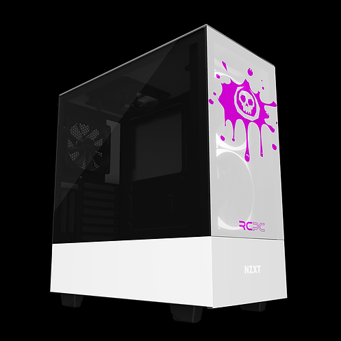 NZXT H510 Elite White-Pink Skull Splat Wrap