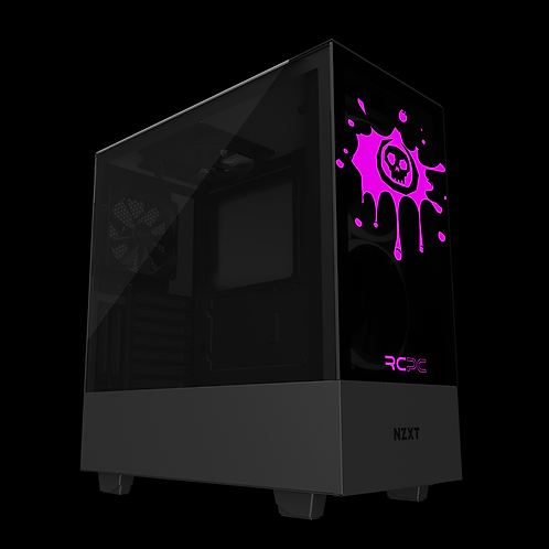 NZXT H510 Elite Black-Pink Skull Splat Wrap
