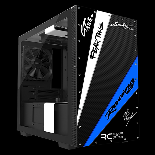 NZXT H210 Black-Blue-White-Carbon Fibre-Black GT Sport Wrap