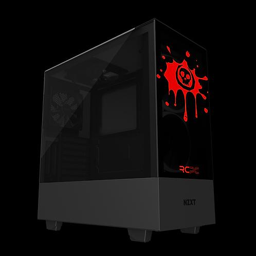 NZXT H510 Elite Black-Red Skull Splat Wrap