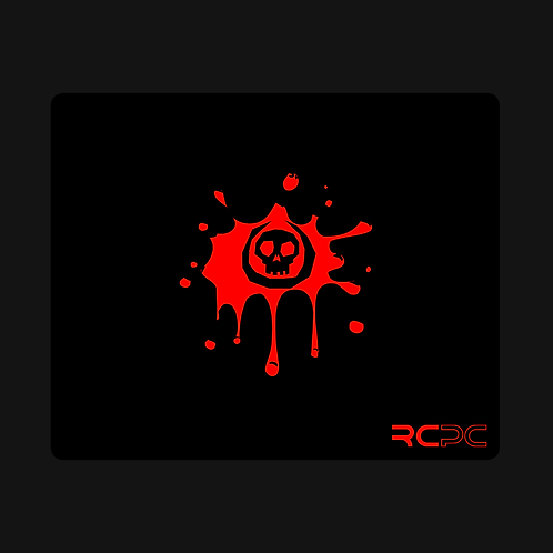 Black-Red Skull Splat Mouse Pad