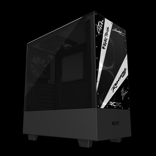 NZXT H510 Elite White-Carbon Fibre-Black GT Sport Wrap