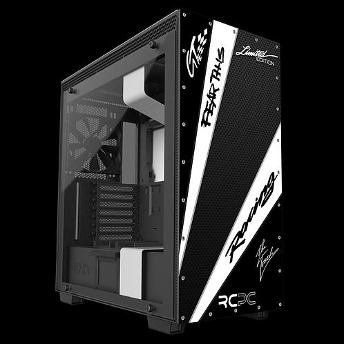 NZXT H710 White-Carbon Fibre-Black GT Sport Wrap