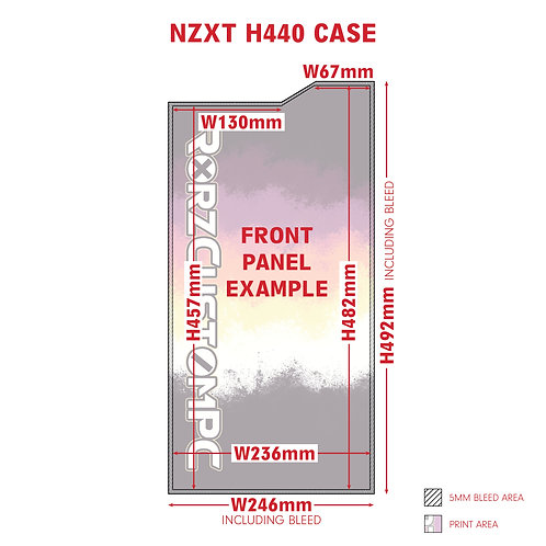 Front Panel Custom Vinyl Wrap