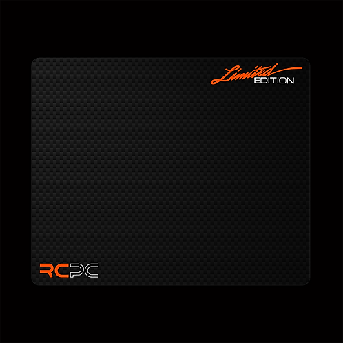 Orange-White-Carbon Fibre GT Sport Mouse Pad