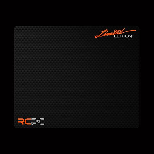 Orange-White-Carbon Fibre GT Sport Mouse Pad