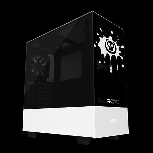 NZXT H510 Elite Black-White Skull Splat Wrap