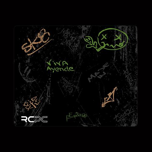 Green-Brown-Black-Grey Graffiti Grunge Mouse Pad