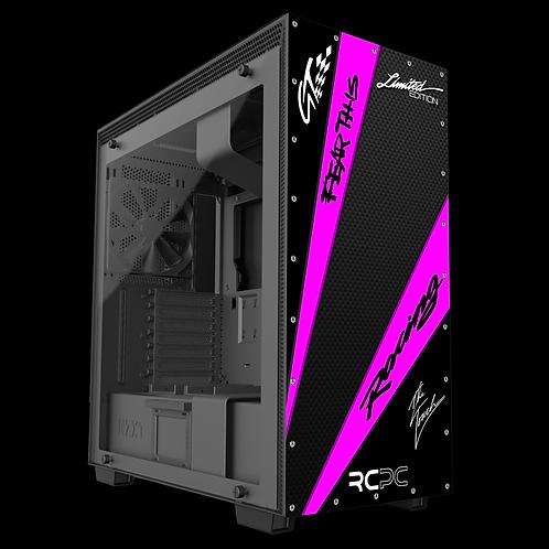 NZXT H710 Black-Pink-Carbon Fibre GT Sport Wrap