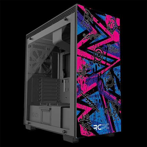 NZXT H710 Pink-Purple-Blue Abstract Grunge Wrap