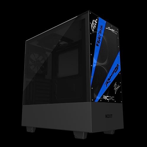 NZXT H510 Elite Blue-Carbon Fibre-Black GT Sport Wrap
