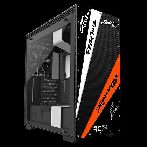 NZXT H710 Orange-White-Carbon Fibre-Black GT Sport Wrap