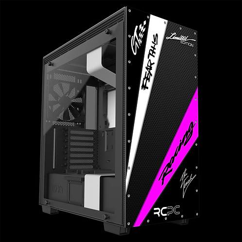 NZXT H710 Black-Pink-White-Carbon Fibre GT Sport Wrap