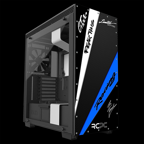 NZXT H710 Black-Blue-White-Carbon Fibre-Black GT Sport Wrap