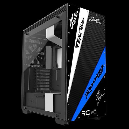 NZXT H710 Black-Blue-White-Carbon Fibre-Black GT Sport Wrap