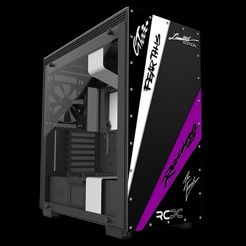 NZXT H710 Black-Purple-White-Carbon Fibre GT Sport Wrap