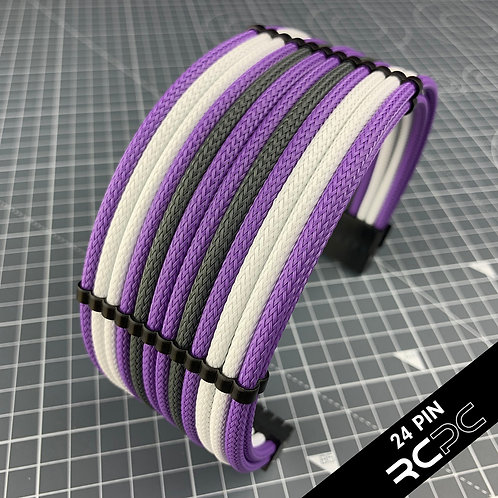 Vivid Violet, Titanium Grey and XXX-White Cable Extension Set