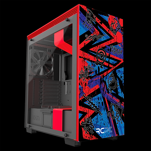 NZXT H710 Red-Blue-Purple Abstract Grunge Wrap