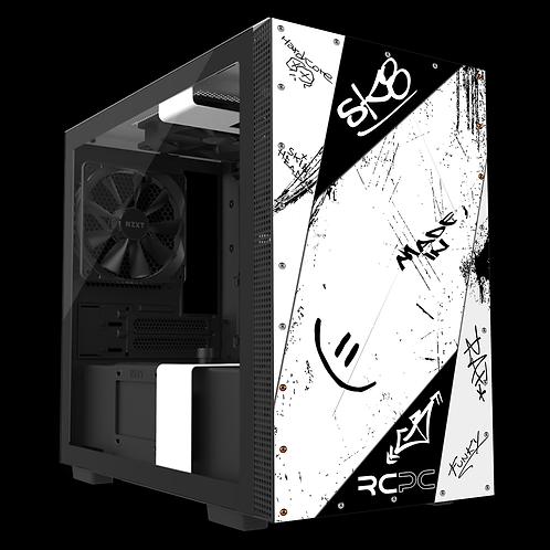 NZXT H210 White-Black Graffiti Grunge Wrap